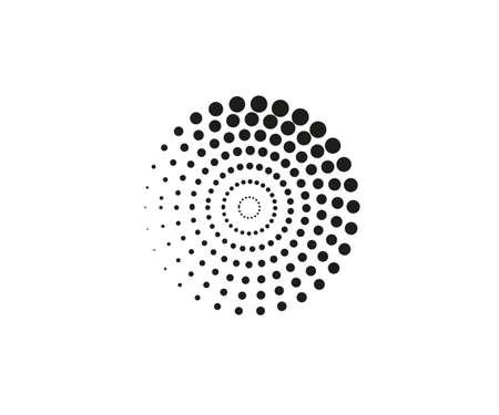 Vector illustration. Dotted spiral symbol