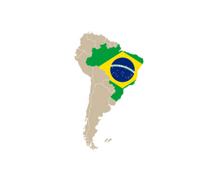 South America map vector. country Vettoriali