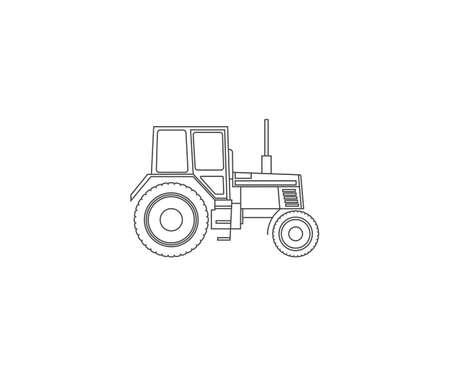 Vector illustration. Tractor machine icon Vettoriali