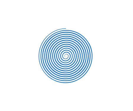 Circle, helix scroll spiral icon vector Illustration