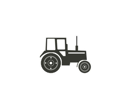 Tractor, machine icon on white background. Vector illustration.
