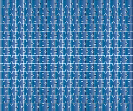 Jigsaw Puzzle grid template, color. Vector illustration.