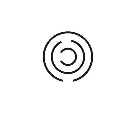 Vector illustration. Labyrinth maze strategy icon Illustration