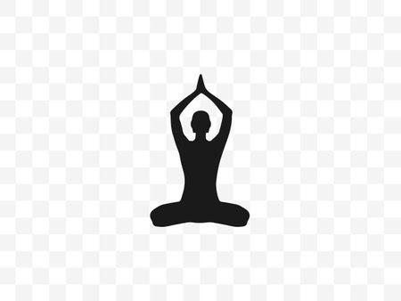 Lotus position, yoga on transparent background. Vector illustration. Illustration