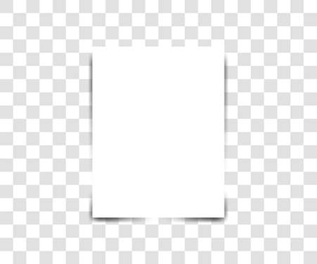 Paper sheet on transparent background