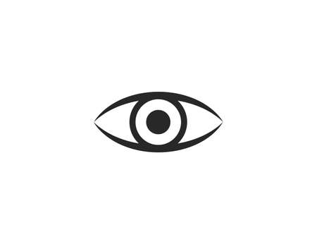 Watch, eye icon on white background. Vector illustration, flat.