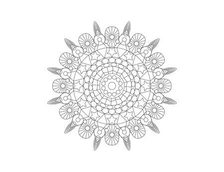 Mandala. Decorative element ornament vector