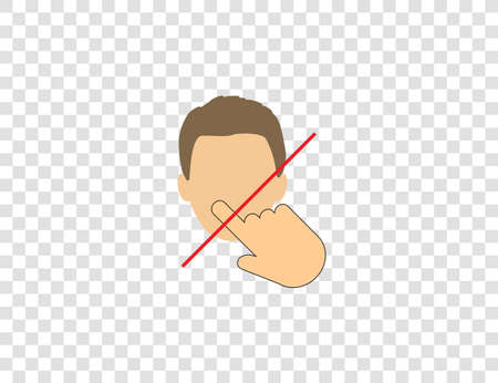 Avoid touching your face vector Illustration