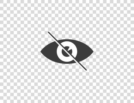 Eye, hidden invisible icon Vector Illustration