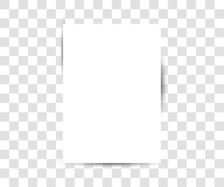 Paper sheet on transparent background. Vector illustration. Illustration