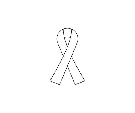 Vector Awareness ribbon, breast cancer ribbon