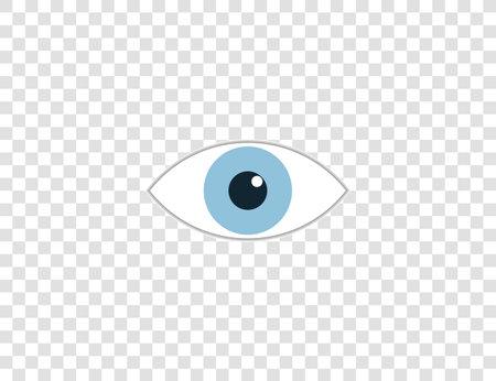 Vector illustration. Watch eye icon Illustration