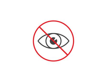 Eye, hidden invisible icon flat