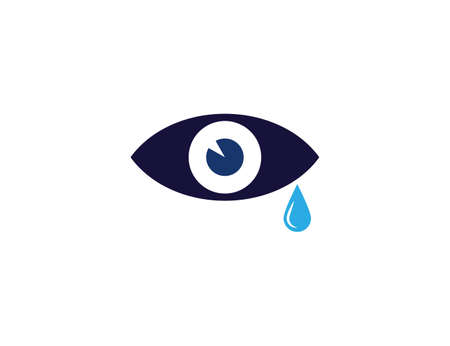 Tear, cry eye icon. Vector illustration, flat. Иллюстрация