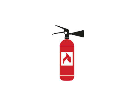 Vector illustration, flat design. Safety, rire fire extinguisher icon