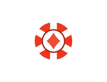Casino, chip gamble jackpot icon. Vector illustration flat