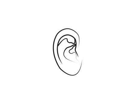 Human ear, anatomy icon Vector illustration 일러스트