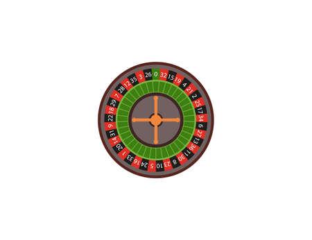 Vector illustration, flat design. Casino roulette spin icon 일러스트