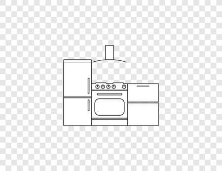 Vector illustration, flat design. Cook food kitchen icon