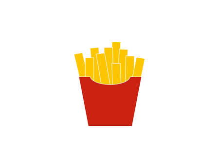 Fast food, french fries fries icon 일러스트