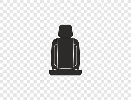 Car seat, safety icon. Vector illustration, flat design.