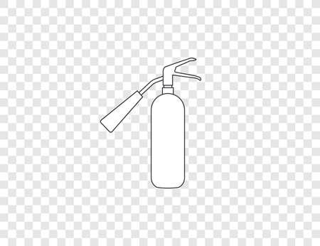 Safety, rire, fire extinguisher icon. Vector illustration, flat design. Иллюстрация