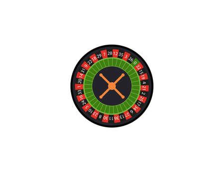 Casino, roulette, spin icon. Vector illustration, flat design. Иллюстрация