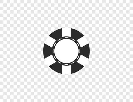 Casino, chip gamble jackpot icon. Vector illustration, flat design.