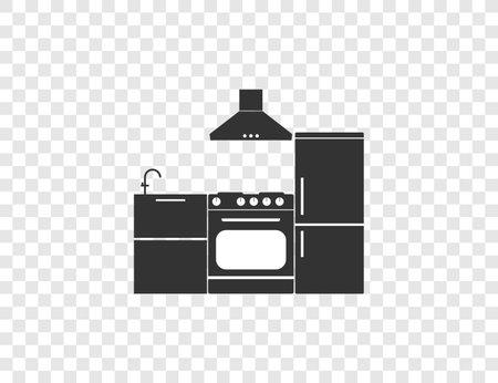 Cook, food, kitchen icon. Vector illustration, flat design.