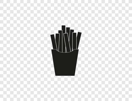 Fast food, french fries, fries icon. Vector illustration, flat design. Иллюстрация