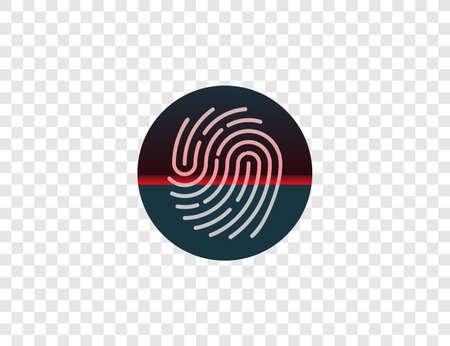 Biometric data, fingerprint scan Vector illustration