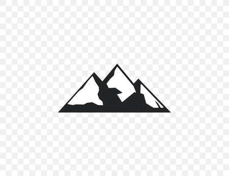 Vector illustration. Adventure hill mountain icon