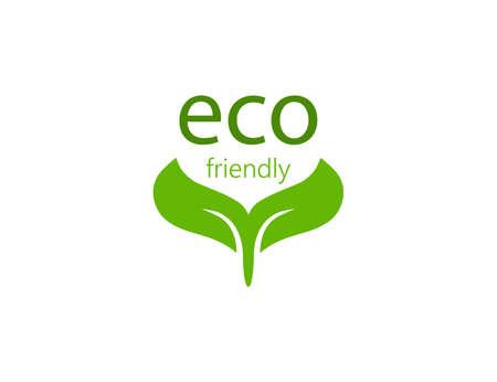 Vector illustration. Eco icon. Eco friendly sign