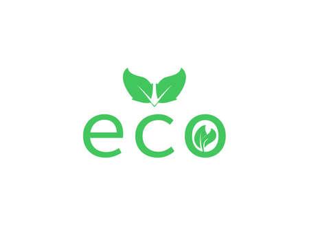 Vector illustration. Green leaf Eco icon Иллюстрация