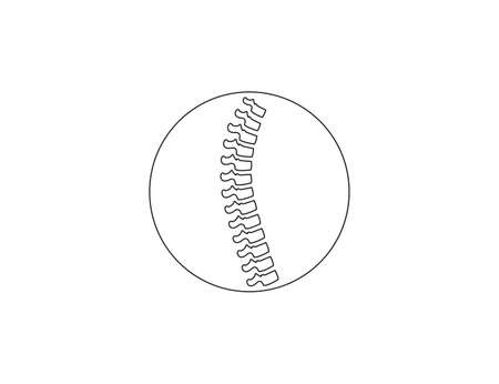 Vector illustration. Human spine, natomy backbone icon Ilustração