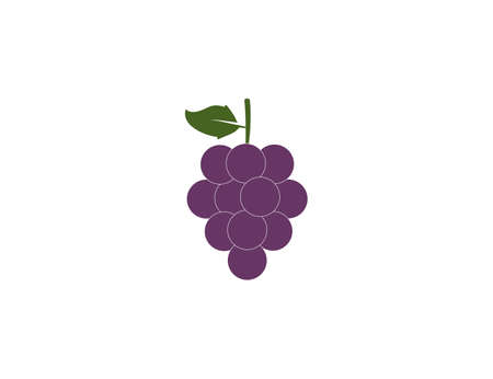 Vector illustration. Fruit grapes icon