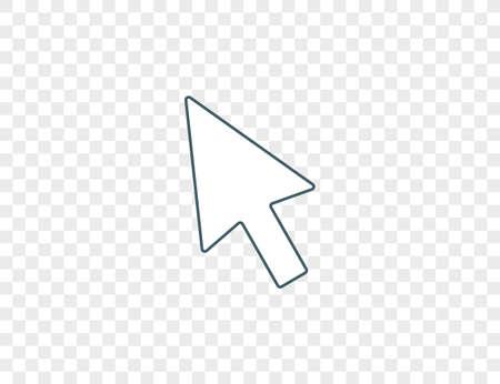 Vector illustration. Pointer cursor arrow icon