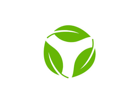Vector illustration. Eco leaves recycle icon Иллюстрация