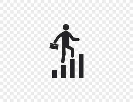Vector illustration. Business, businessman chart graph profit icon 일러스트