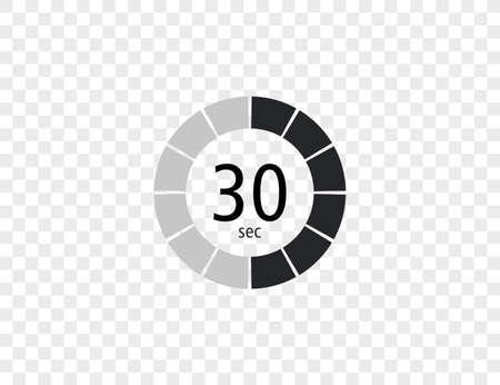 Vector illustration. Timer stopwatch icon Vettoriali