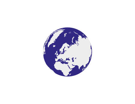 Vector illustration. Earth globe icon Ilustração
