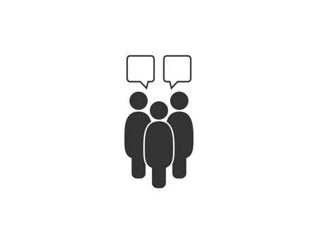 Vector illustration. People talking icon