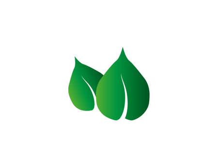 Vector illustration. Green leaf Eco icon Ilustração