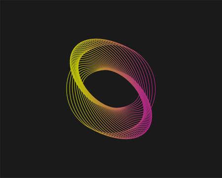 Vector illustration. Spirograph abstract element