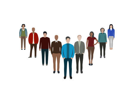People, person flat icon Vector illustration.
