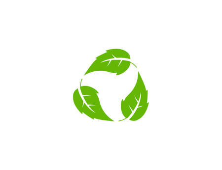 Vector illustration. Eco leaves recycle icon 向量圖像