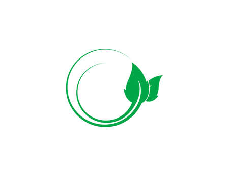 Vector illustration. Green leaf Eco icon 向量圖像