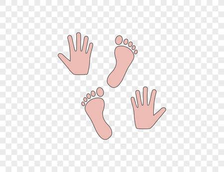 Vector illustration. Hand foot icon Ilustração