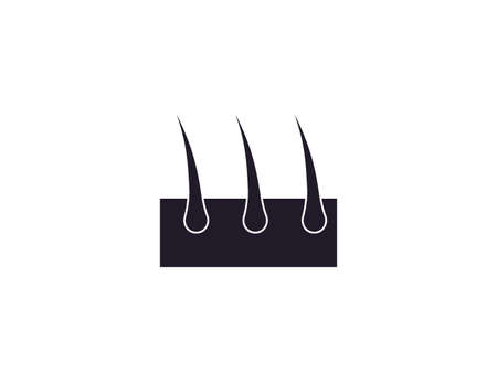 Vector illustration. Hair, hair follicles root icon