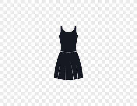 Dress, female dress, skirt icon. Vector illustration. Ilustração